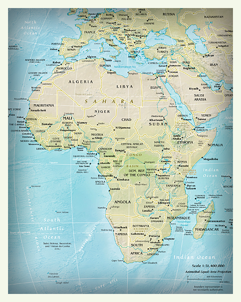 Physical map online world atlas period 1 physical and political map of africa gumiabroncs Gallery
